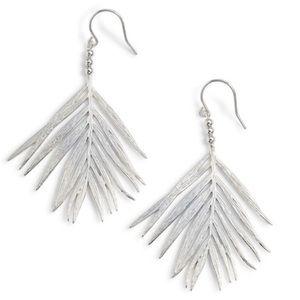 Brand New Gorjana Silver Palm Drop Earrings